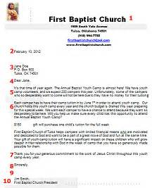 church letter template donation request letter sle