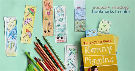 summer colouring bookmarks summer reading bookmarks to color