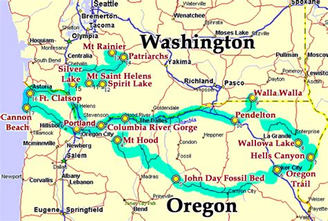 map washington and oregon