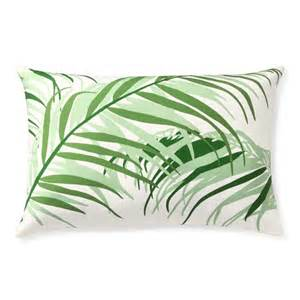 outdoor printed tropical palm pillow emerald williams
