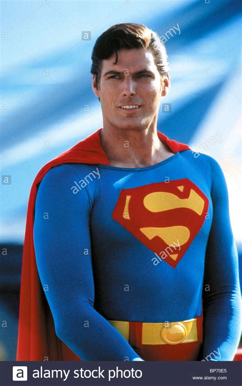 christopher reeve as superman christopher reeve superman iii 1983 stock photo royalty