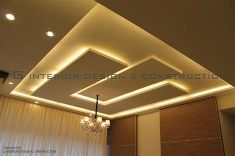 Low Ceiling Design by Ceiling Illumination Interior Design Construction Sdn