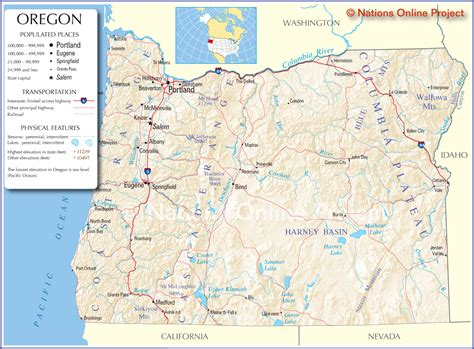 map of oregon cities oregon map usa
