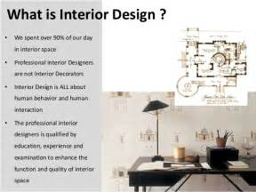 introduction for interior design