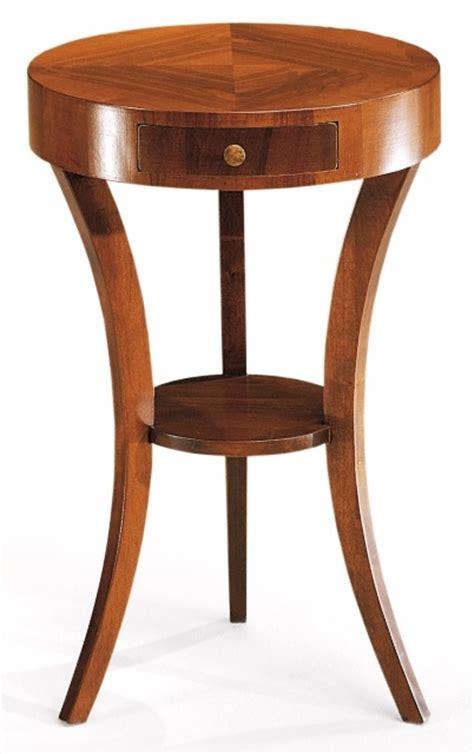 tavolino con cassetto tavolino rotondo in legno con cassetto