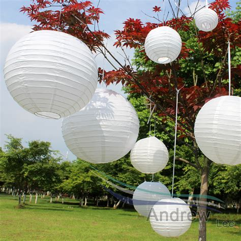 Paper Lanterns At Home - cheap white color lantern wedding decor