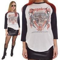 Raglan Megadeth Megadeth Logo best 80s rock shirts products on wanelo