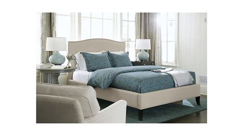 crate and barrel bed colette upholstered king bed crate and barrel