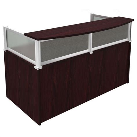 Outdoor Patio Privacy Blinds Plexiglass Reception Desk In Mahogany N269g X