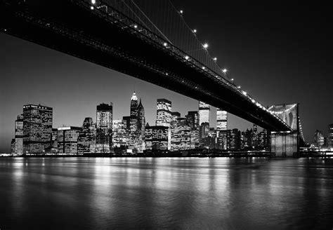 black and white new york skyline wallpaper for bedroom fototapete manhattan skyline schwarz weiss