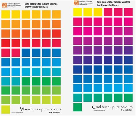 smart color comparison warm to cool in hue colour theory smart
