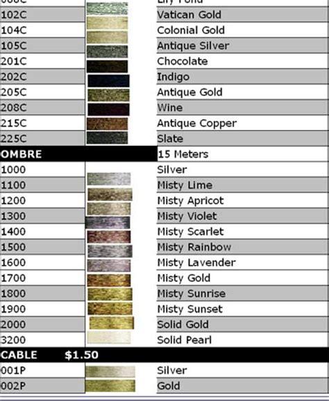 dmc light effects list of colors color threads dmc threads kreinik colors chart cross stitch articles