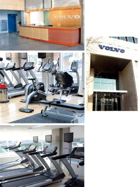 South korea volvo automobile factory gymnasium bh fitness treadmill bike indoor cycling