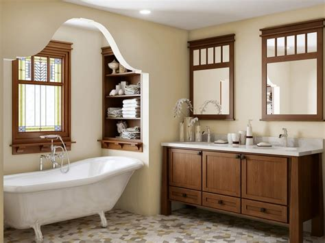 Craftsman Style Bathroom Ideas by Craftsman Style Bathroom With Tiles And
