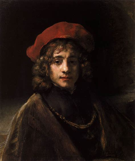 rembrandts universe his art 0500093865 the artist s son titus by rembrandt harmenszoon van rijn