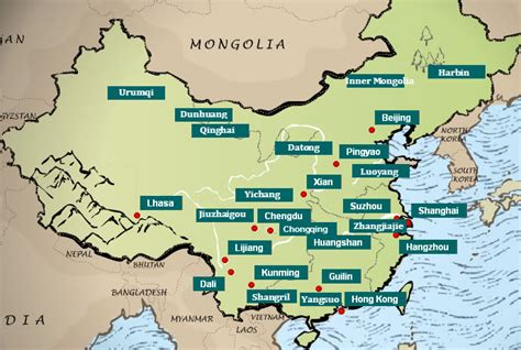 map of china cities map of china major cities images