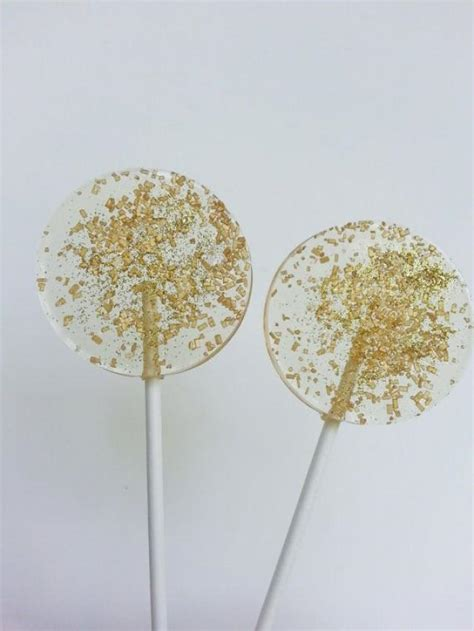 Gold Baby Shower Favors by Gold Wedding Favors Lollipops Gold