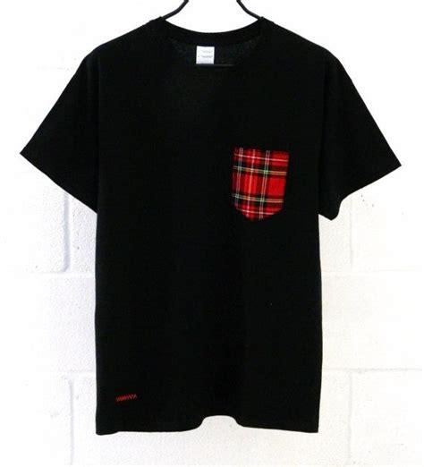 pattern for t shirt pocket men s tartan pattern black pocket t shirt men s t shirt