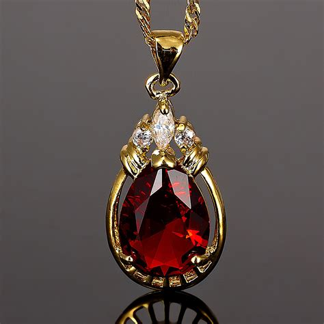 about jewelry fashion jewelry 1 pear cut clear topaz gold tone