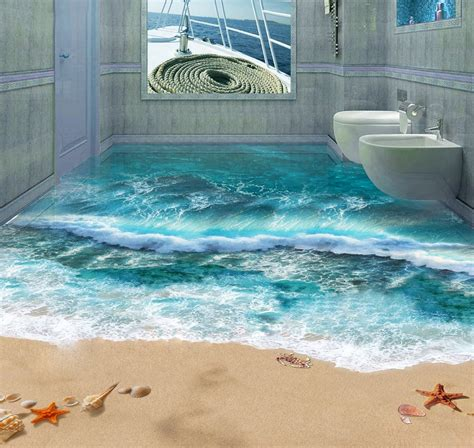 3d bathroom floor art 3d floor art will make your home looks more artistic