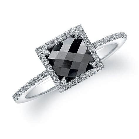 18k white gold contemporary designer black ring