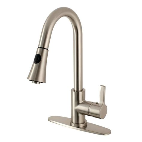 shop kingston brass american classic satin nickel 1 handle shop kingston brass continental satin nickel 1 handle deck