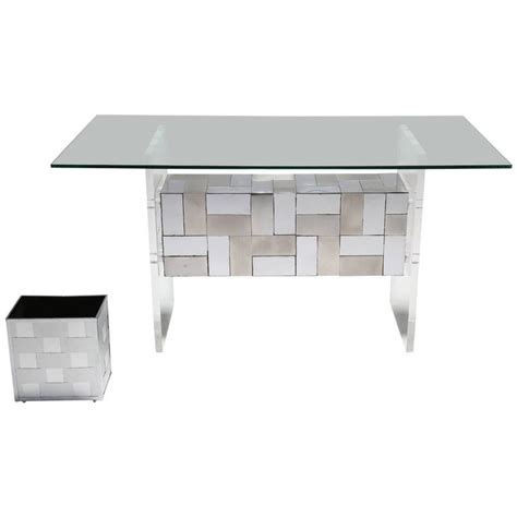 Patchwork Desk - paul style patchwork chrome desk vanity or dining