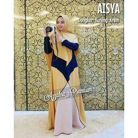 Aisyah Azzahra Syari Mint Baju Muslim gamis syari modis aisyah azahra pusat busana gaun