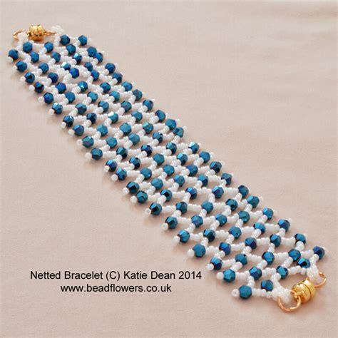 seed bead netting patterns netted bracelet pattern beadflowers by dean