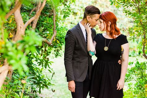 tattoo redhead couple in garden nj wedding