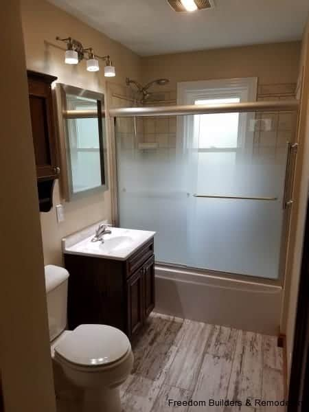 bathroom remodeling vs renovation freedom builders