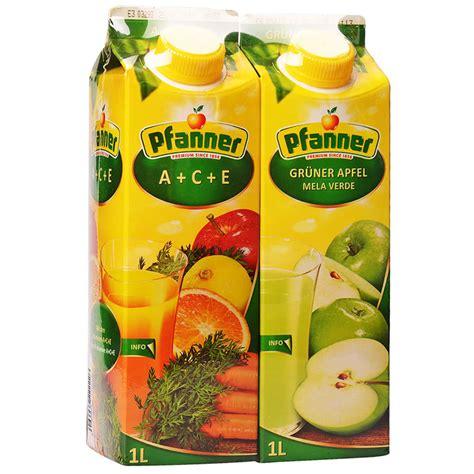 ace juice set juice pfanner multivitamin ace 1l green apple 1 l