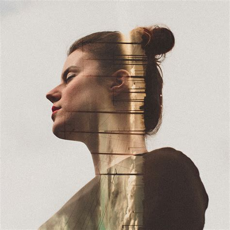 double exposure portraits  sara  byrne colossal