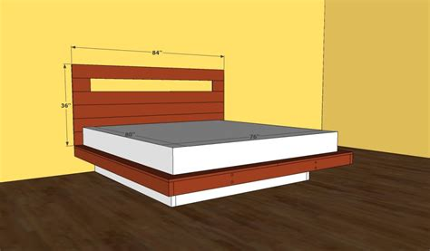 how to build a platform bed with headboard platform bed frame plans howtospecialist how to build