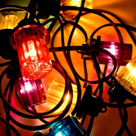 coloured outdoor lights multi coloured lantern set from christmastimeuk outdoor