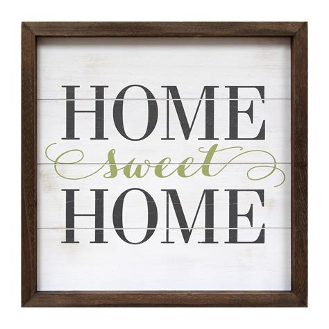 stratton home decor home sweet home framed textual