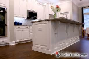 Decorative Kitchen Islands Decorative End Panels And Corbels Finish This Kitchen Island Cabinets Shown Are Deerfield