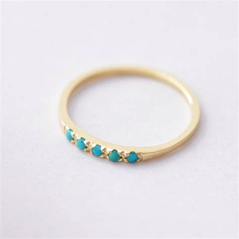 Wedding Rings With Turquoise by Turquoise Wedding Band Turquoise Wedding Ring Gold