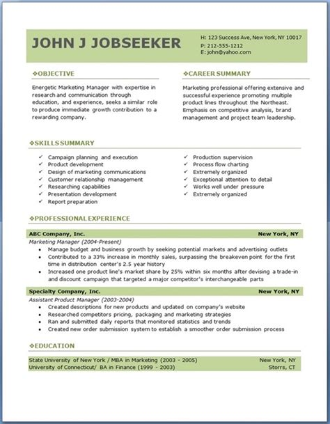 Executive Resume Templates Word by Free Professional Resume Templates Resume Downloads