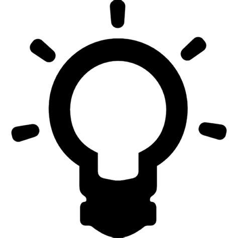idea symbol of a lightbulb outline icons free