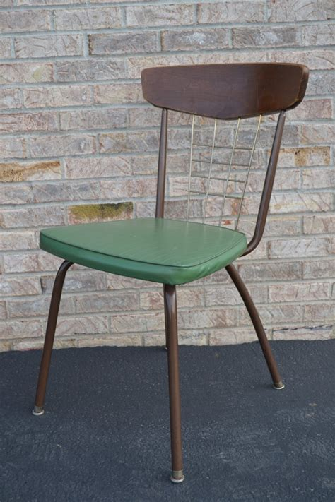 Olive House Metal Chair wood metal and olive green vinyl chair metal chairs