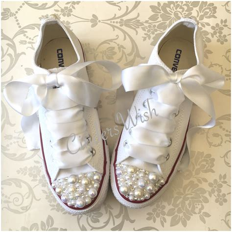 Wedding Sneakers by Pearl Converse Bridal Converse Wedding Converse