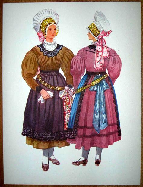 Dress Siska slovenia folk costume ljubljana siska illustrations