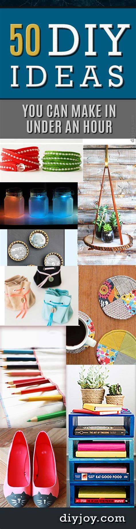 And Easy Ideas To Give You An Instant Lift - 50 diy projects you can make in an hour craft