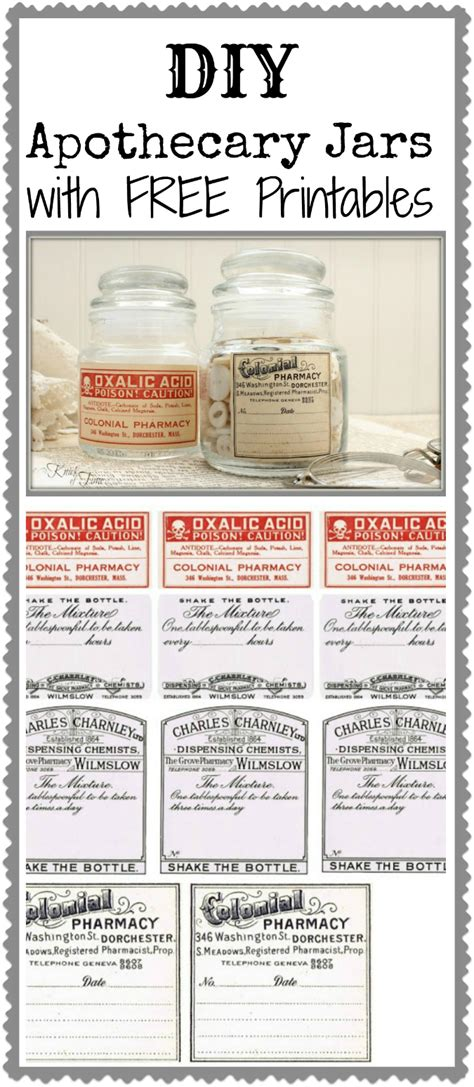 printable apothecary labels diy apothecary jars cheap quick knick of time