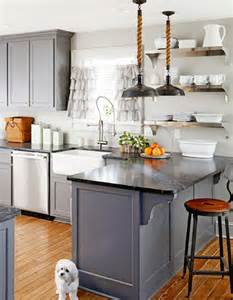 Blue Grey Kitchen Cabinets Having A Moment Blue Gray Kitchen Cabinets Mydomaine