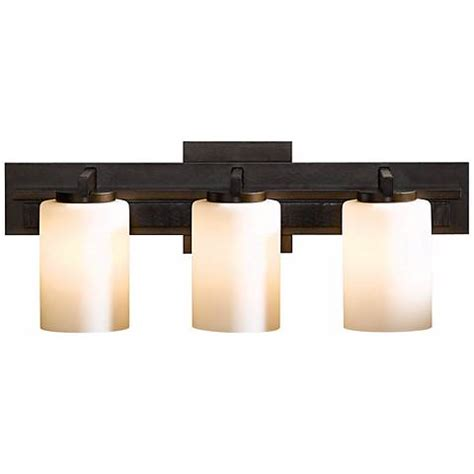 hubbardton forge bathroom lighting hubbardton forge ondrian opal 3 light bath wall sconce