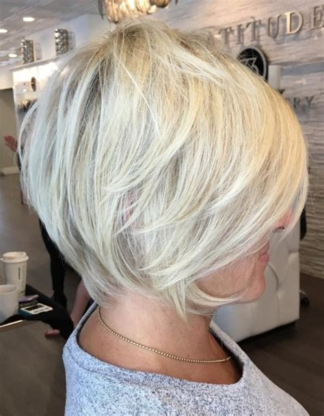 blonde bob over 50 90 classy and simple short hairstyles for women over 50