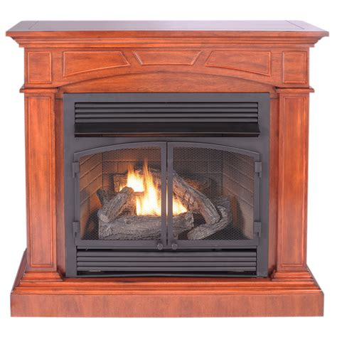 procom gas fireplaces shop procom 44 52 in dual burner vent free heritage cherry