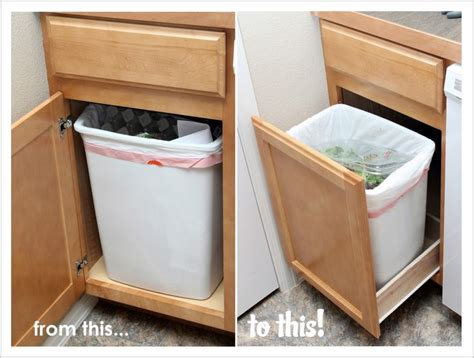 cabinet trash can drawer our modern homestead diy pull out trash drawer k i t c
